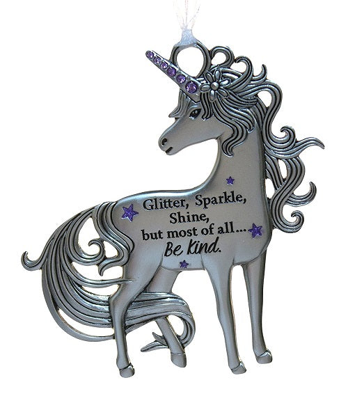 Unicorn Ornament Glitter Sparkle Shine