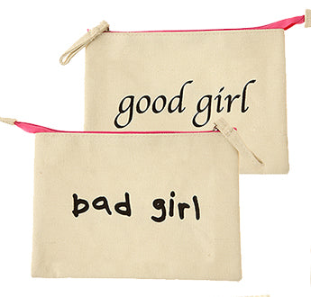 Good Girl Bad Girl Cosmetic Make up Bag
