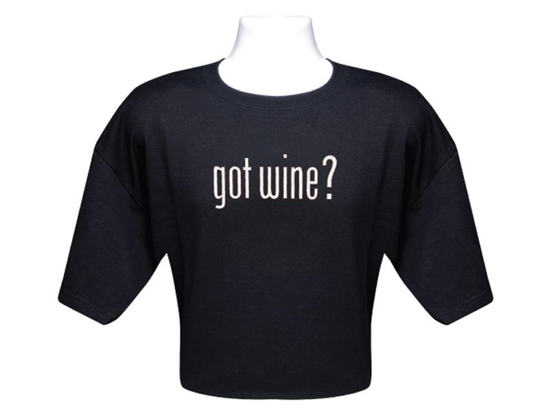 Got Wine Black T Shirt