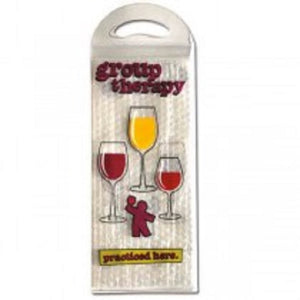 Group Therapy Plastic Gift Bubble Wine Bag