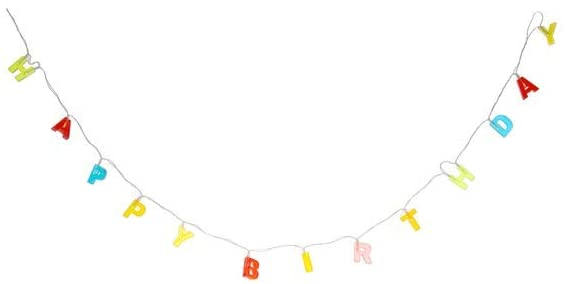 Light Up Happy Birthday Garland LED Lights