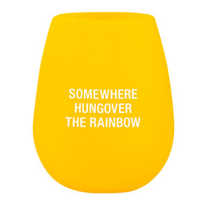 Silicone Somewhere hungover the Rainbow Wine Glass