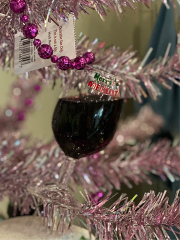 Merry Merlot Red Wine Glass Ornament
