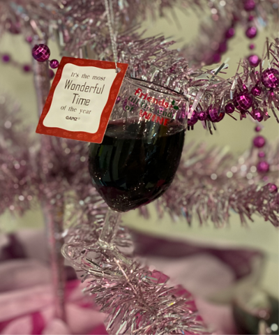 Friends Til The End Of Wine Red Wine Glass Ornament