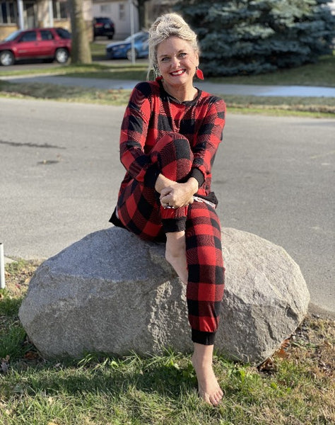 Buffalo Plaid Loungewear Sleepwear Pants Bottoms