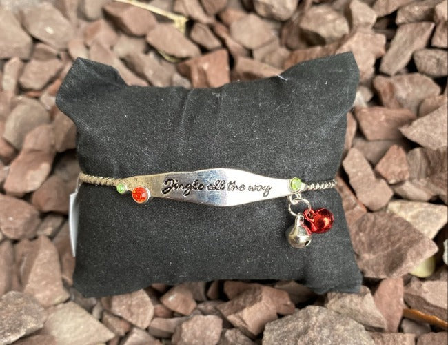 Jingle All The Way Christmas Cuff Bracelet