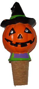 Halloween Pumpkin Wine Bottle Cork Stopper Topper