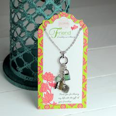 Friend Pendant Charm Necklace