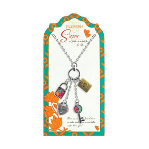 Sister Pendant Charm Necklace