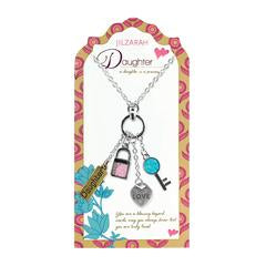 Daughter Pendant Charm Necklace
