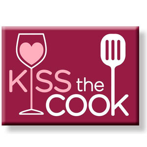 Kiss The Cook Refrigerator Magnet