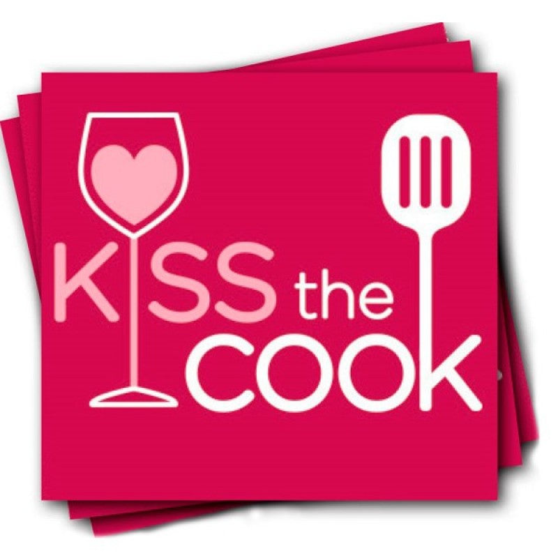 Kiss The Cook Cocktail Napkins