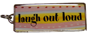 Ganz Laugh out Loud Long  Rectangle Charm