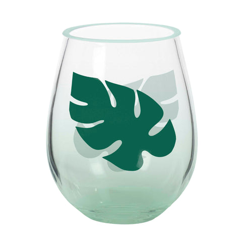 Acrylic Leaf  Stemless Wine Glass