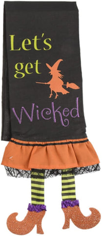 Let's Get Wicked Linen Halloween Kitchen Towel