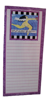 Bad Girl Art Shopping List Note Pad