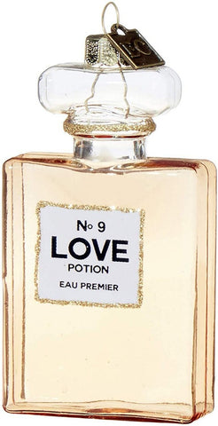 Love Portion No 9 Perfume Bottle Christmas Ornament