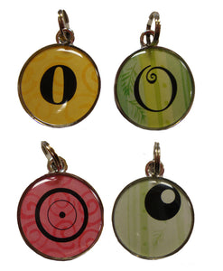 Ganz Round  O Initial Charms