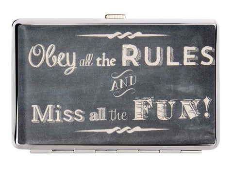 Obey The Rules Business Card Holder