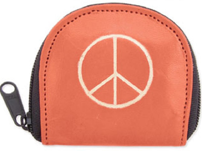 Orange Peace Coin Purse