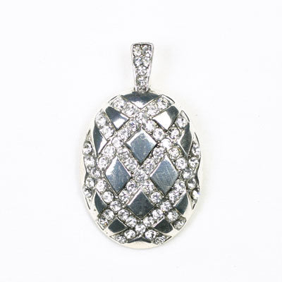 Seasons Oval Pendant with Crystals