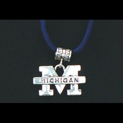 University of Michigan Single Cord Necklace