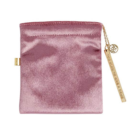 Pink Velvet Cord Pouch