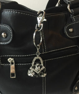 Metal Purse Bling Key Chain