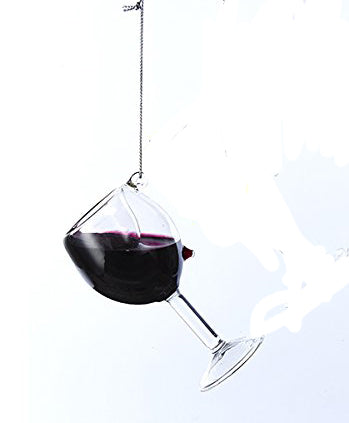 Red Wine Glass Ornament