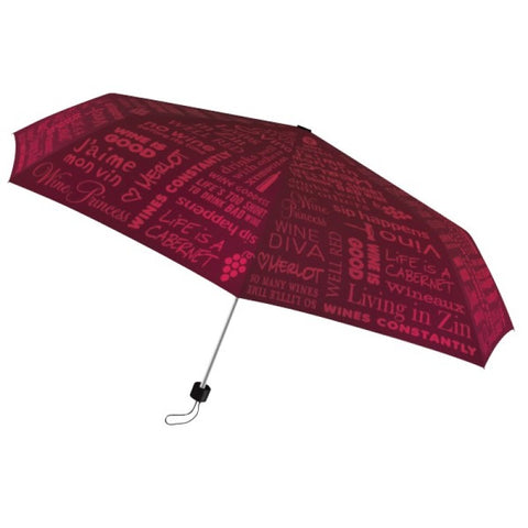 Wine Lovers Red Designer Umbrella
