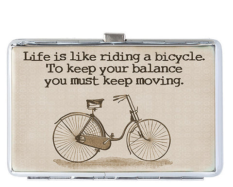 Life Is Like Riding a Bicycle Business Card Holder