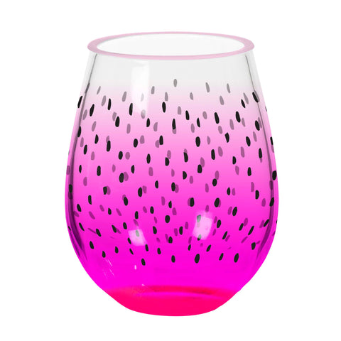 Acrylic Fruit Seeds Style Stemless Wine Glass