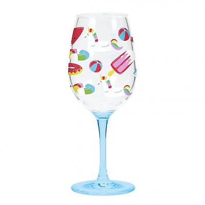 Acrylic Set of Two Float Theme Glasses