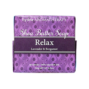 Aromatherapy Relax Shea Butter Soap Made In The USA Lavender Bergamot