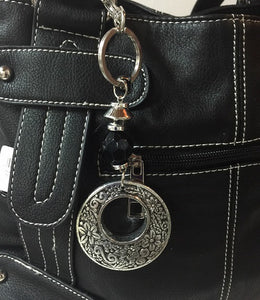 Silver Ring Purse Bling Key Ring