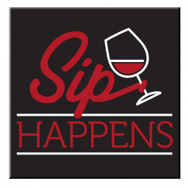 New Sip Happens Fridge Magnet