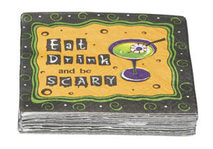 Halloween Cocktail Napkins Eat Drink and be Scary