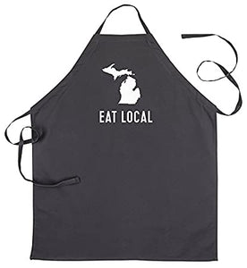 Eat Local Michigan Mens Grilling Apron