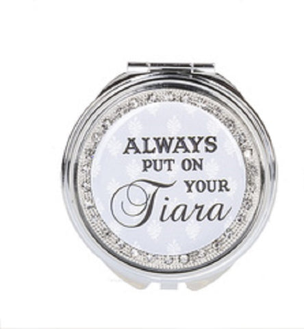 Always Put on Your Tiara Makeup Compact Case