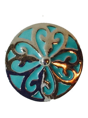 Turquoise Scroll Flowers Interchangeable Snap Jewelry