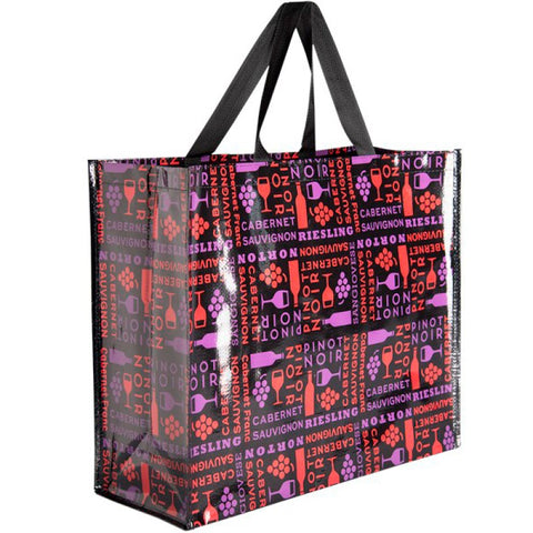 Small Vino Wine Recycled Material Reusable Shopping Bag Tote