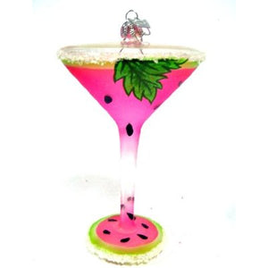 Happiness is a Watermelon Martini Cocktail Ornament