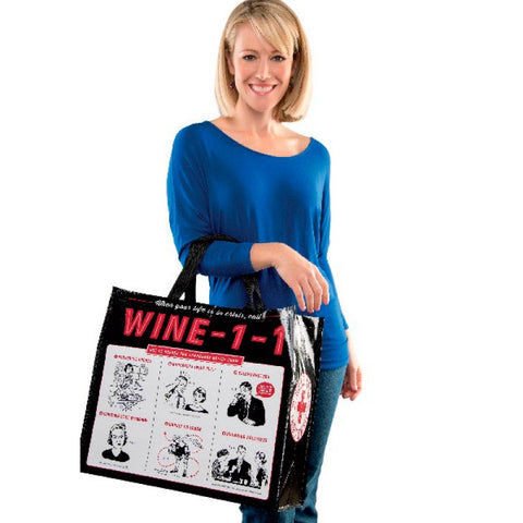 Wine 11 Recycled Material Reusable Laminated Shopping Tote Bag
