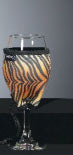 Woozie Wine Glass Insulator Tiger Print