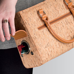 Recycled Wine Cork Purse w Hidden Spout