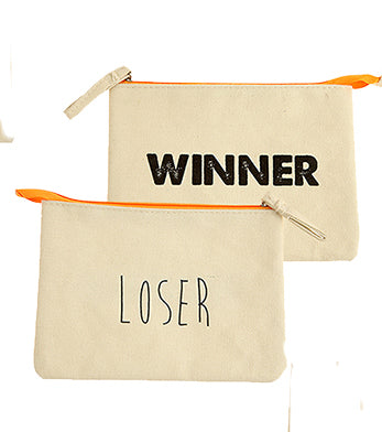 Winner Loser Cosmetic Makeup Bag