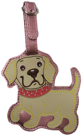 Yellow Lab Puppy Luggage Tag