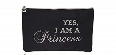 Yes i Am A Princess Black Make up Bag