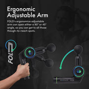 FOLD First Ever Foldable Percussive Therapy Massage Gun - e-makro