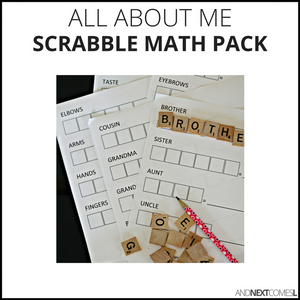 All About Me Scrabble Math Pack